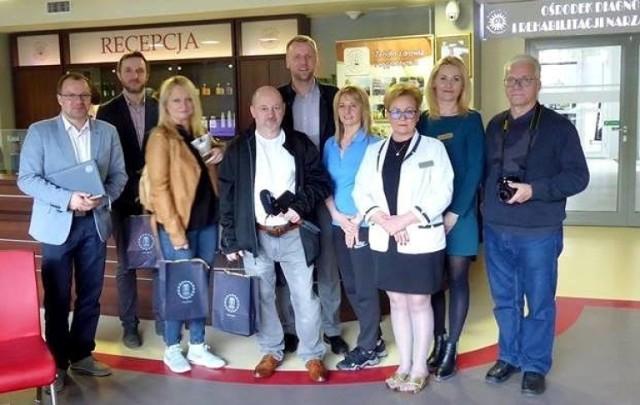 Dziennikarze mediów polonijnych ze Stanów Zjednoczonych gościli w buskim uzdrowisku.