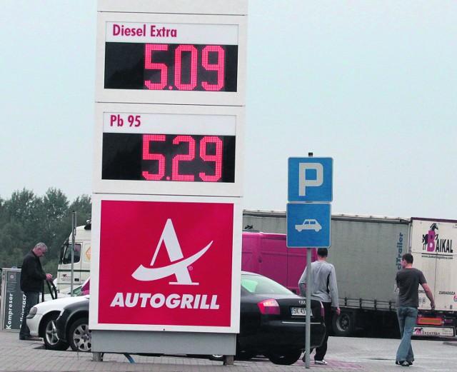 Stacja przy autostradzie A4.  Te ceny jeszcze nie są najwyższe!