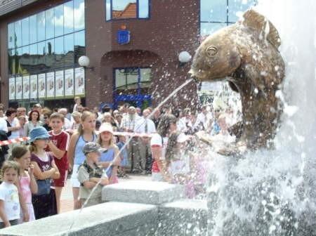 Jedna z największych atrakcji obchodów 80-lecia miasta Czerska, czyli uruchomienie fontanny.