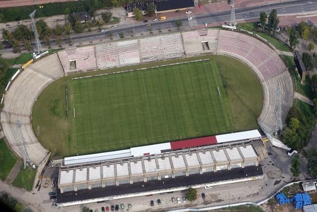 Obecny wygląd stadionu przy al. Unii