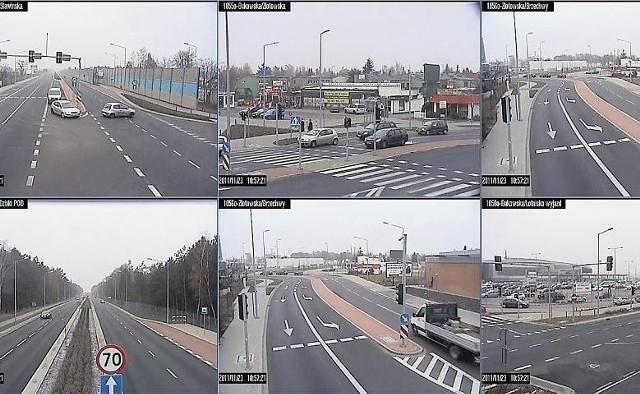 Kamery zainstalowane wzdłuż ulicy Bukowskiej widzą m.in. to, co dzieje się na ulicy
