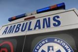 Potrącenie rowerzysty w Manasterzu koło Jarosławia. Mężczyzna trafił do szpitala z urazem głowy