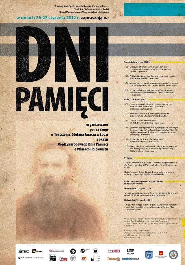 Drugi raz z rzędu Teatr im. S. Jaracza w Łodzi zaprasza na Dni Pamięci, organizowane z okazji Międzynarodowego Dnia Pamięci o Ofiarach Holokaustu.
