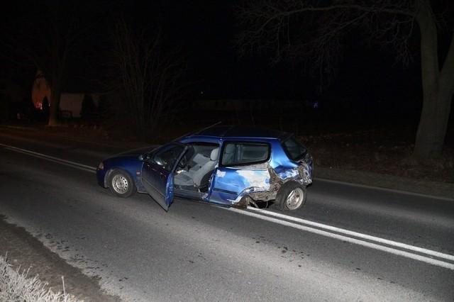 W zderzeniu trzech aut nikt na szczęście nie ucierpiał