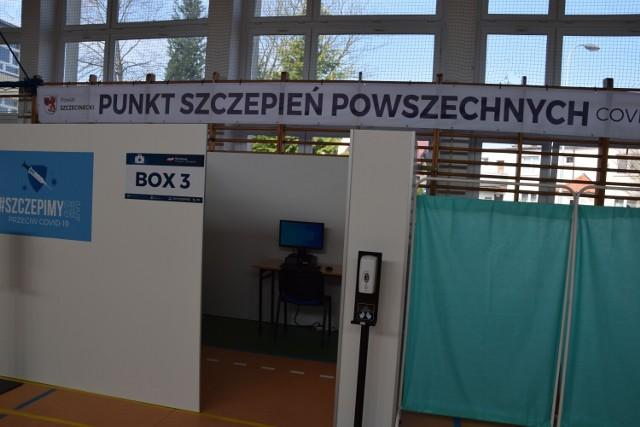 Pustki w punkcie szczepień w Szczecinku