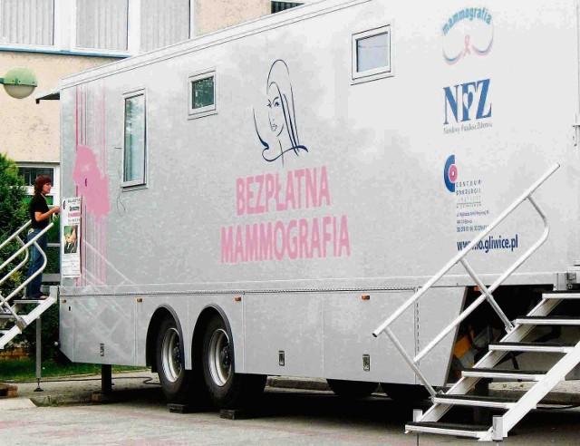 Taki mammobus stanie przed urzędem gminy