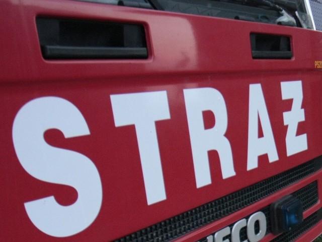 Strażacy w Pabianicach uratowali wyposażenie płonącego ambulansu.