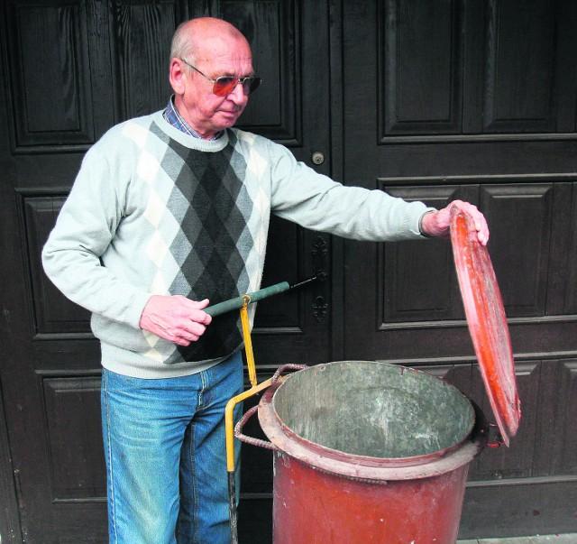 Józef Gandyra z Piekar Śl. chce płacić uczciwie za wywóz śmieci