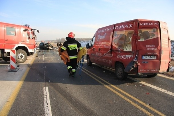 Wypadek na obwodnicy Sycowa.