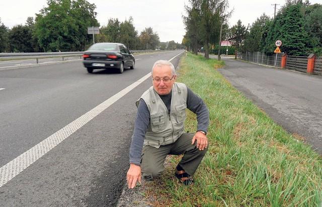 Jan Szkucik uważa, że ustawienie betonowych ekranów w tym miejscu to złe rozwiązanie