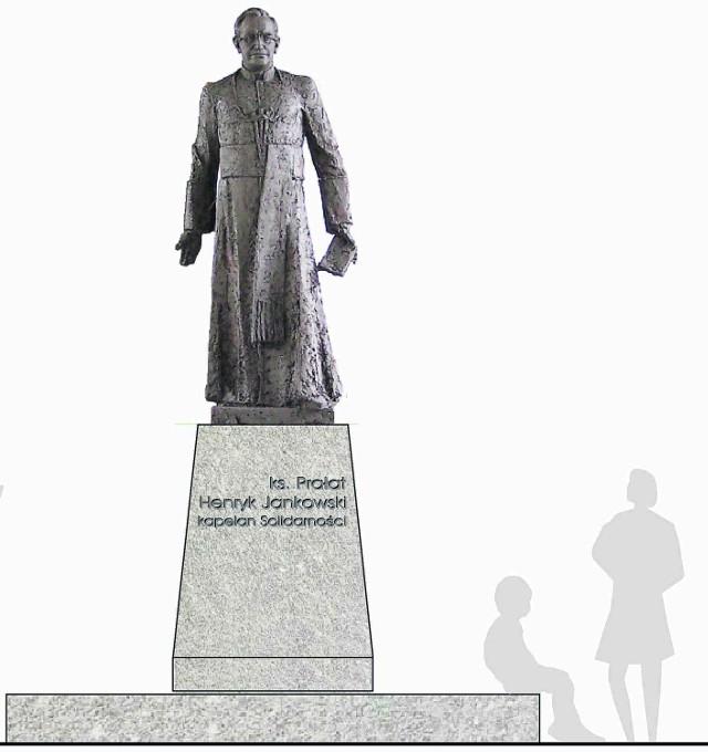 Tak będzie wyglądać pomnik ks. Henryka Jankowskiego