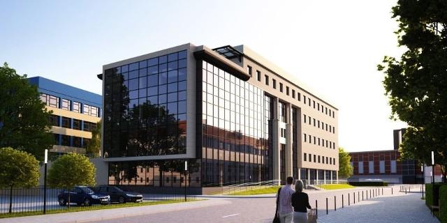 Na poszczególnych kondygnacjach zlokalizowane będą: sale laboratoryjne: geotechniczną i geodezyjną, sale komputerowe, pracowanie projektowe, pokoje dla pracowników, salę dydaktyczno-seminaryjną, bibliotekę, zespoły sanitariatów, szatnie, usługi, klatki schodowe i windy.