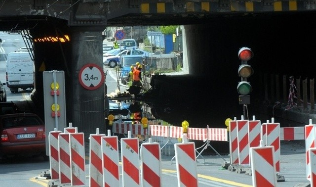Remont wiaduktu na Kunickiego