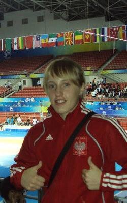 Katarzyna Krawczyk (Cement Gryf Chełm) rywalizuje w kategorii 55 kg
