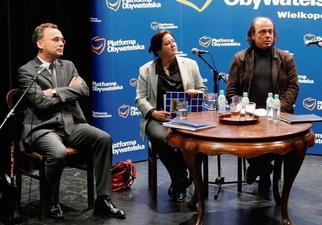 Wybory analizowali szef PO Filip Kaczmarek, politolog Dorota Piontek oraz reżyser Jacek Kubiak