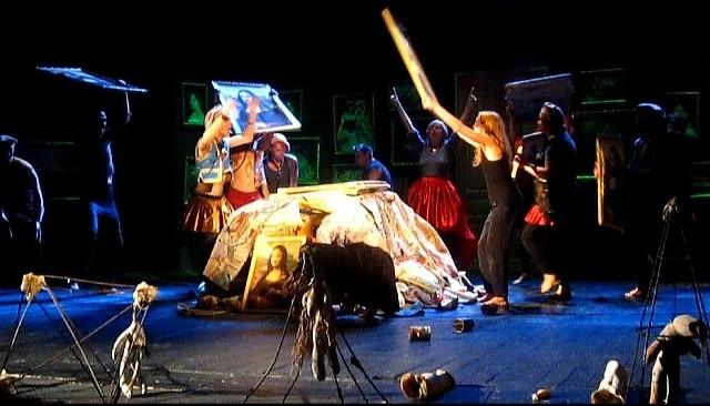 """Próba spektaklu """"Hamlet"""" rosyjskiego Teatru Kolady"""