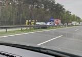 Tychy: Wypadek na S1. Samochód uderzył w bariery energochłonne. Lądował śmigłowiec LPR
