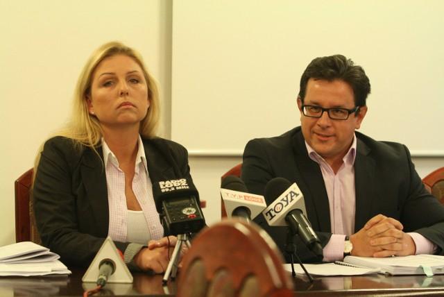 Anna Adamska-Makowska wraz z mężem Krzysztofem Makowskim (Ruch Palikota) nie popierają projektu budżetu
