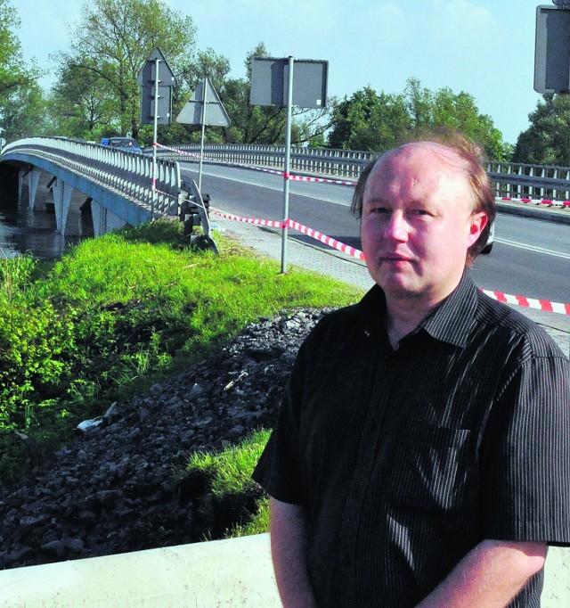Zalany most blokował szefowi Prokuratury Rejonowej w Wadowicach, Jerzemu Utracie, dojazd do pracy