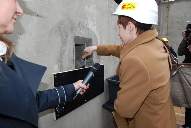 Wmurowanie kamienia węgielnego pod budowę kampusu studenckiego w Sosnowcu-Dańdówce