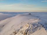 Tatry. Bajkowa zima w górach. Kasprowy Wierch pod śniegiem i w chmurach