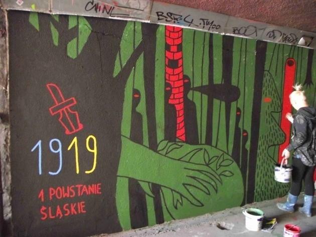 Graffiti w Katowicach przypomina o I Powstaniu Śląskim