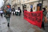 Protest anarchistów w Krakowie [ZDJĘCIA]