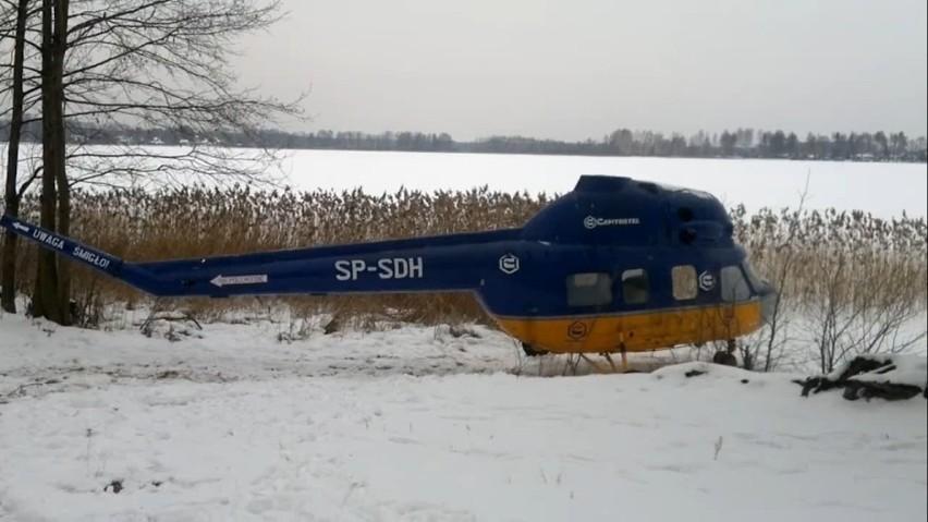 Zatopili helikopter w Jeziorze Białym