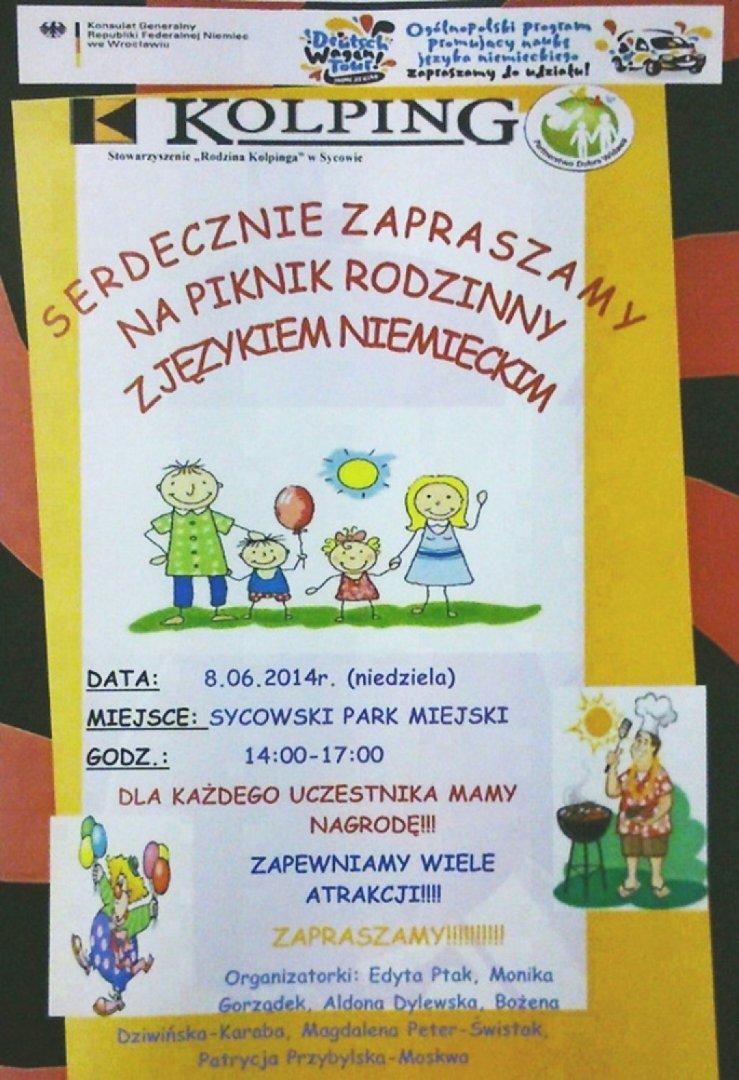 Syców Zaproszenie Na Piknik Rodzinny Z Językiem Niemieckim