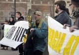 Gdańsk: Pikieta przeciw budowie elektrowni jądrowej (ZDJĘCIA, FILM)