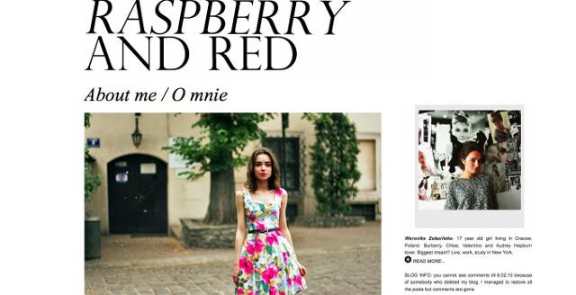 """""""Raspberry and Red"""": Weronika Załazińska, 17 lat, Kraków - Mimo młodego wieku wypracowała swój styl i jest świadoma tego, co nosi. Miłośniczka lat 50-tych, Burberry, Chloe, Valentino, Audrey Hepburn. Jej wielkim marzeniem jest zamieszkanie w Nowym Jorku."""