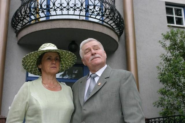 Danuta Wałęsa z mężem