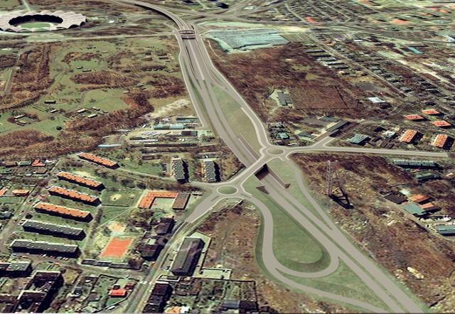 Trasa będzie biegła przez Chorzów Stary (widok od północy)
