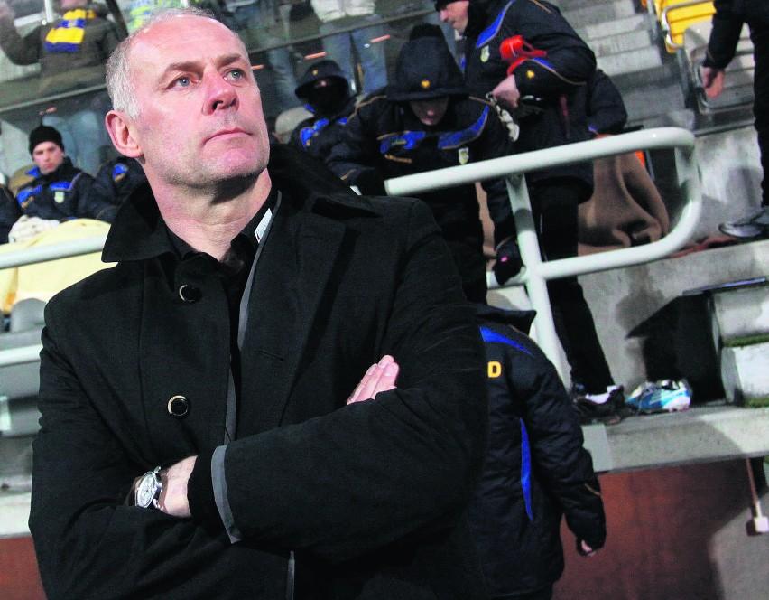 Jeśli piłkarze Arki zagrają skutecznie, trener Dariusz Pasieka będzie mógł cieszyć się z goli