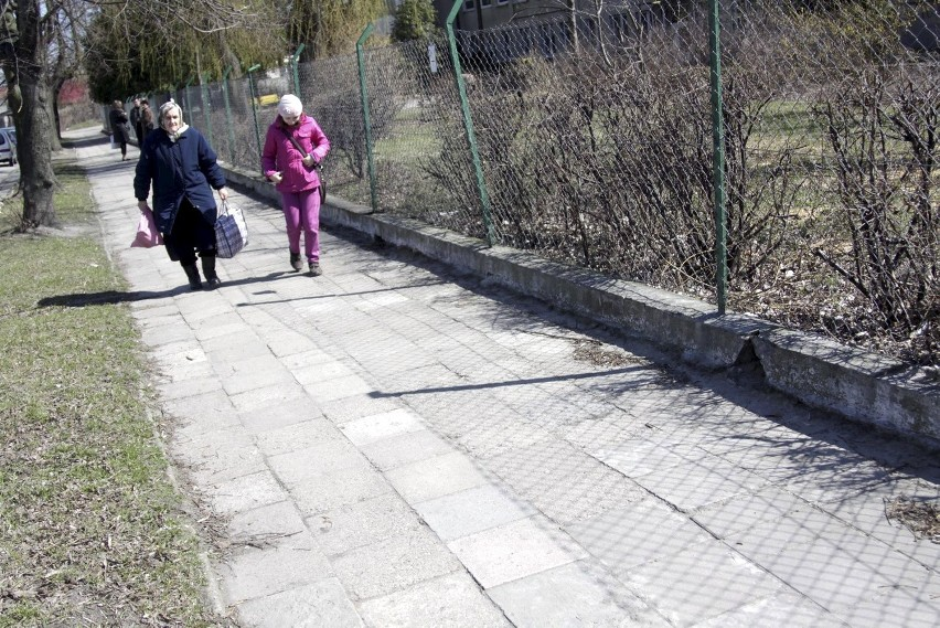 Chodnik przy ul.Biłgorajskiej na Bronowicach przejdzie...