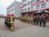 Dzień Flagi RP w Skierniewicach. Strażacy PSP Skierniewice oddali jej hołd ZDJĘCIA