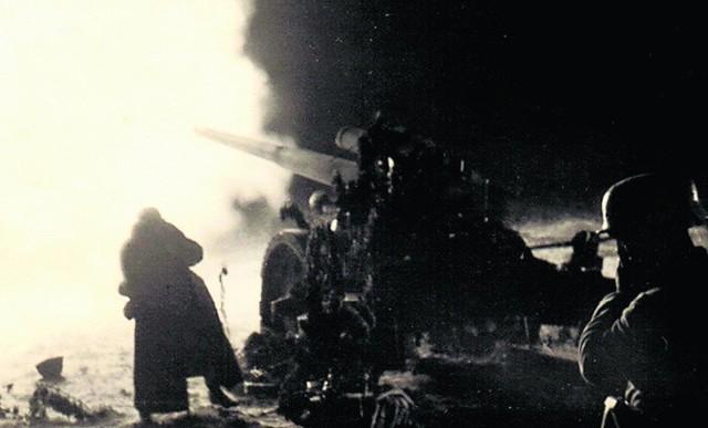 Nocny ostrzał polskich pozycji pod Wizną