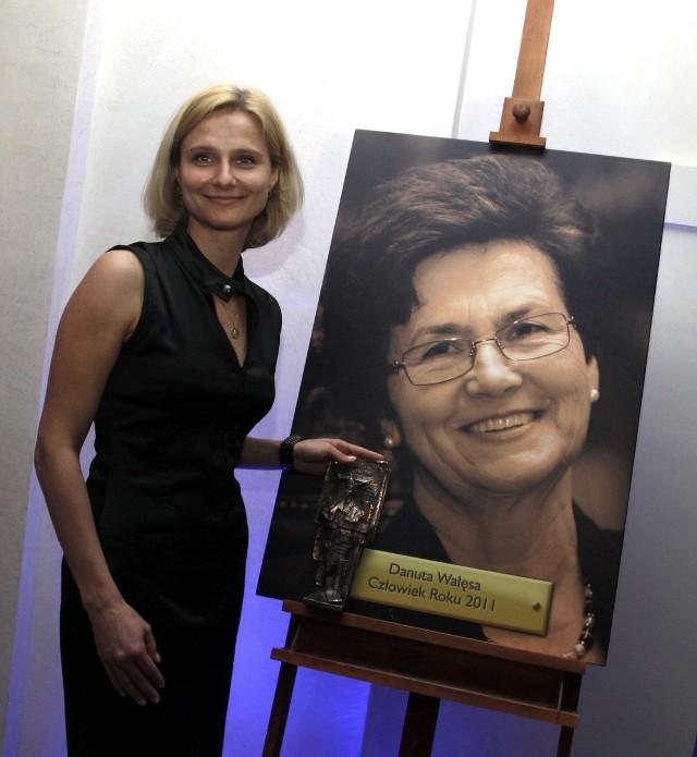 Magdalena Wałęsa odebrała nagrodę za mamę