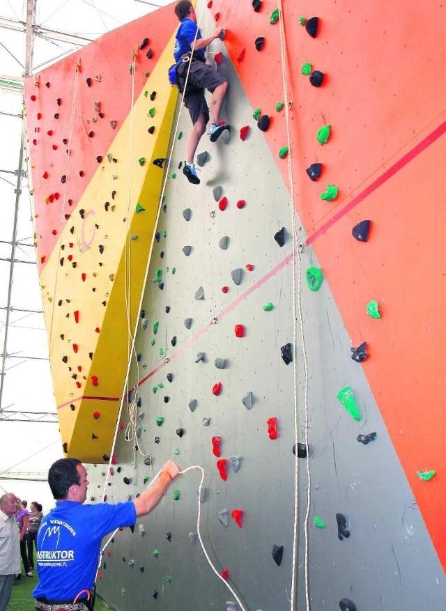 Jedną z miejskich inwestycji w sport była ścianka do wspinania
