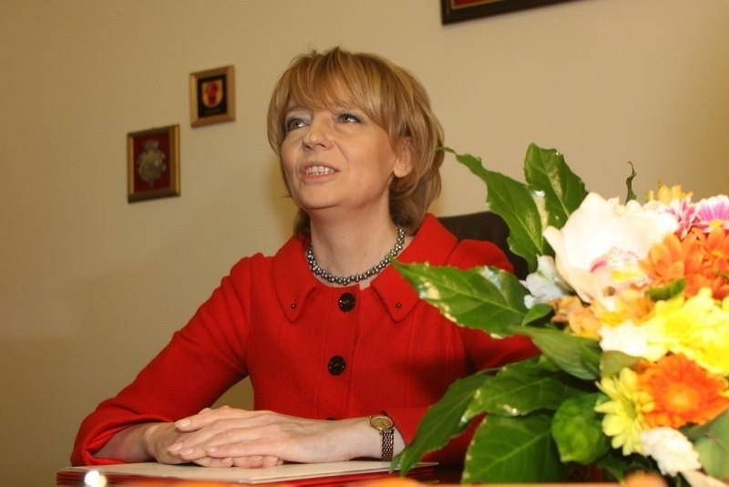Hanna Zdanowska, prezydent Łodzi w swoim gabinecie przy Piotrkowskiej 104.