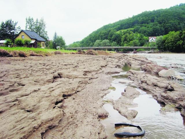 Erozji brzegu zapobiegłyby kamienne wały, ale ich koszt przekracza możliwości RZGW