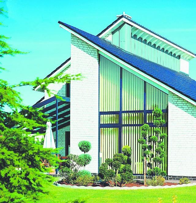 Efektowny dach pulpitowy