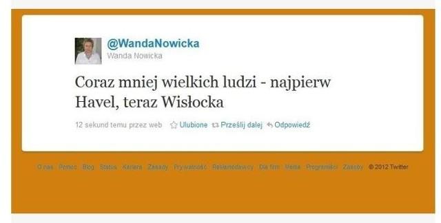 Wicemarszałek Sejmu Wanda Nowicka Pomyliła Szymborską Z