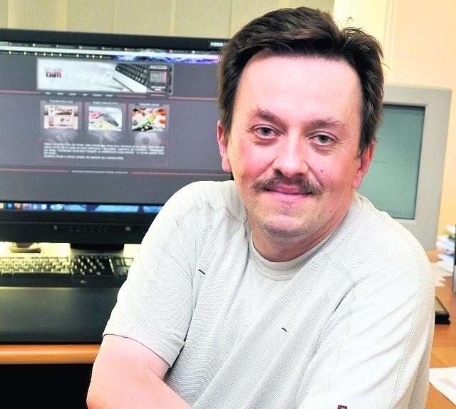 Marcin Grygiel już  prowadzi firmę Gim Studio