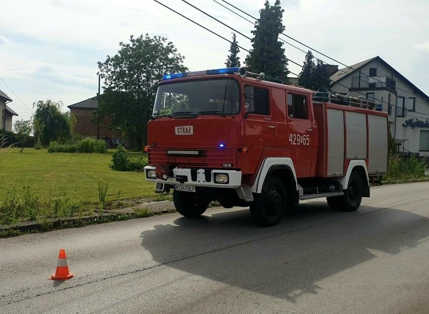 Podczas akcji w Alwerni doszło do nieszczęśliwego wypadku