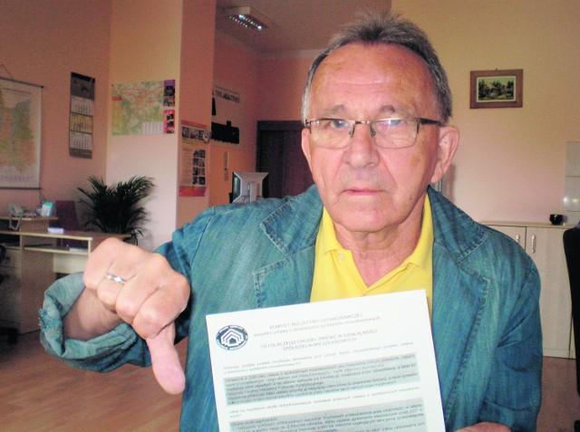 Włodzimierz Sztyk  apeluje do spółdzielców, by nie podpisywali projektu