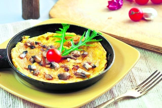Omlet z rukolą wg przepisu Konrada Gacy