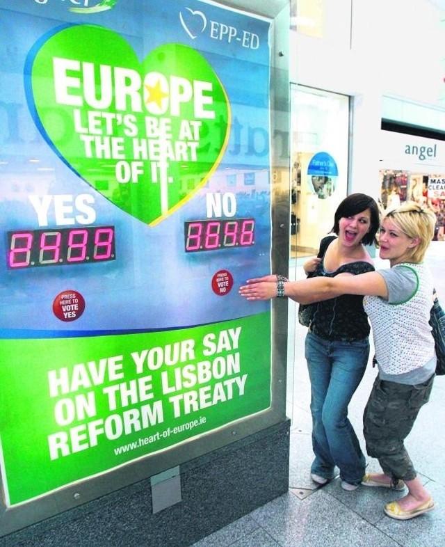 Jeszcze przed referendum mieszkańcy Irlandii nie kryli swojej niechęci dla traktatu