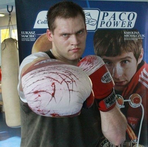 Krzysztof Kosela (Paco Team Lublin) rywalizuje w kategorii powyżej 91 kg
