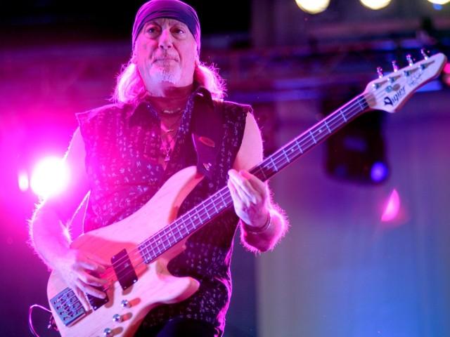 Koncert Deep Purple na Polach Marsowych w 2009 roku. Na zdj. Roger Glover